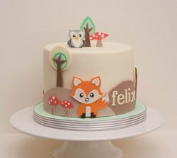 woodland vegan cake
