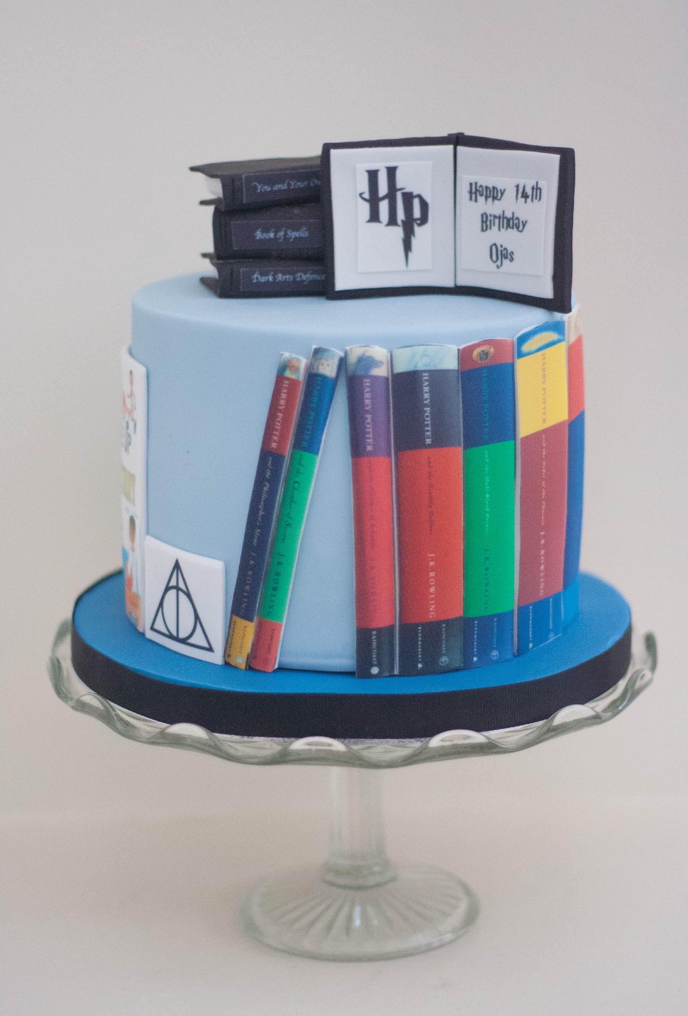 Harry Potter books vegan cake