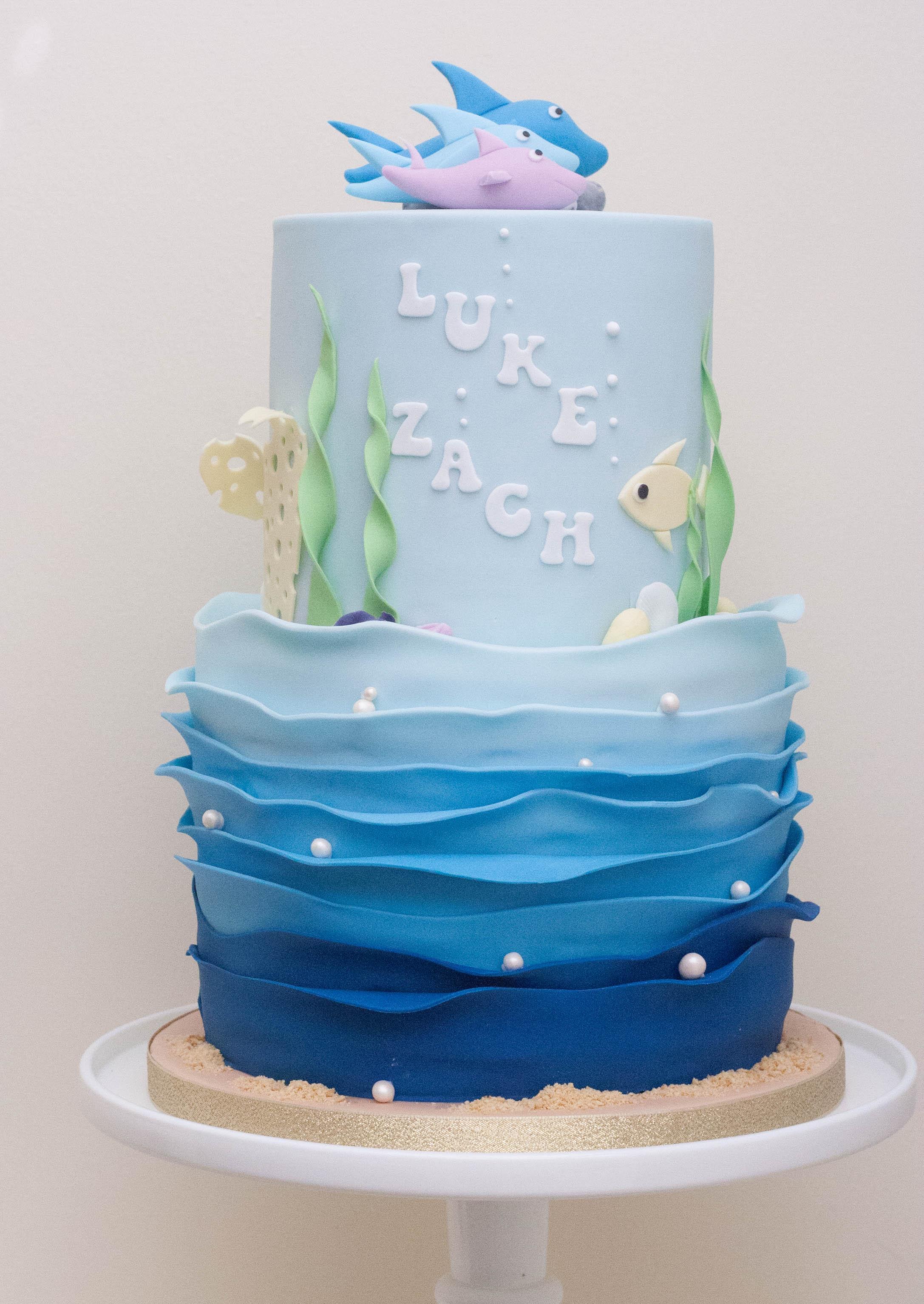 baby sharks cake vegan