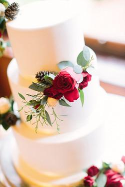 fresh flowers vegan wedding cake