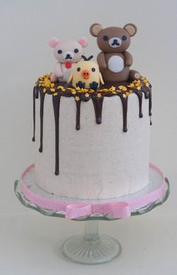 rilakkuma vegan cake