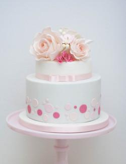 sugar flower topper vegan cake