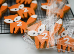 fox cookies wrapped