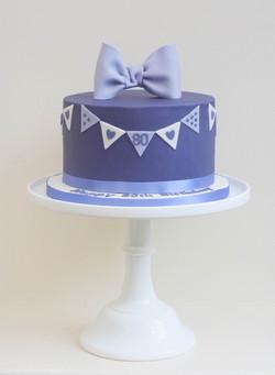 purple vegan cake bunting bow