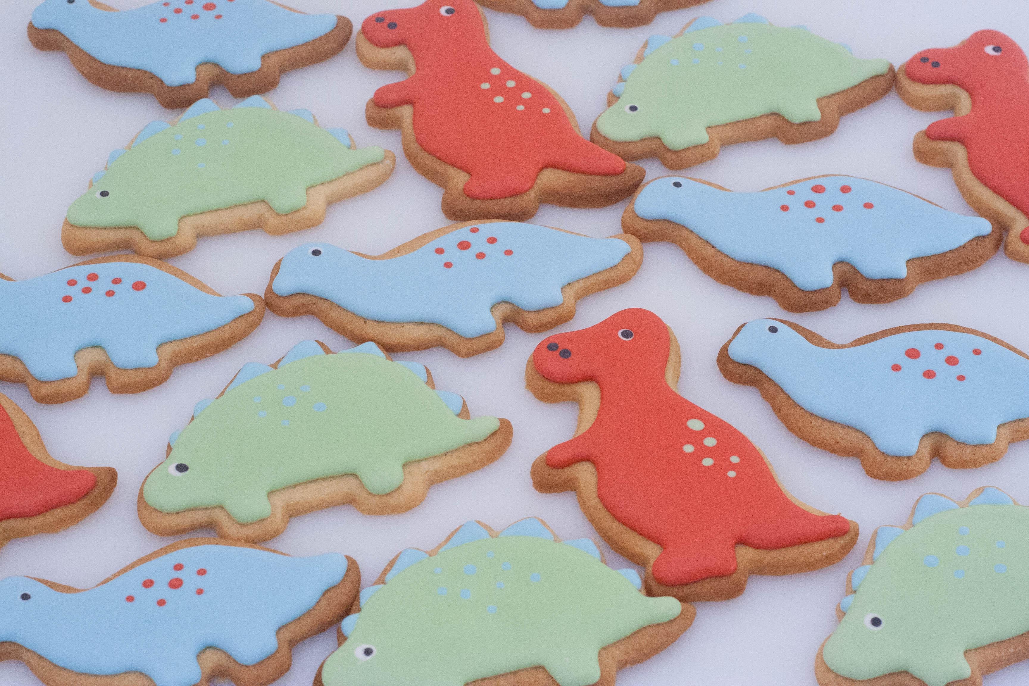 dinosaur vegan cookies