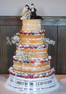 vegan gluten free naked wedding cake