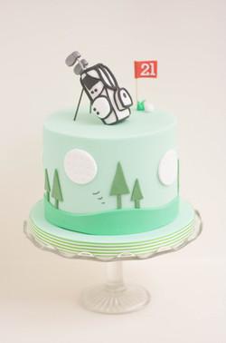 golf vegan cake_