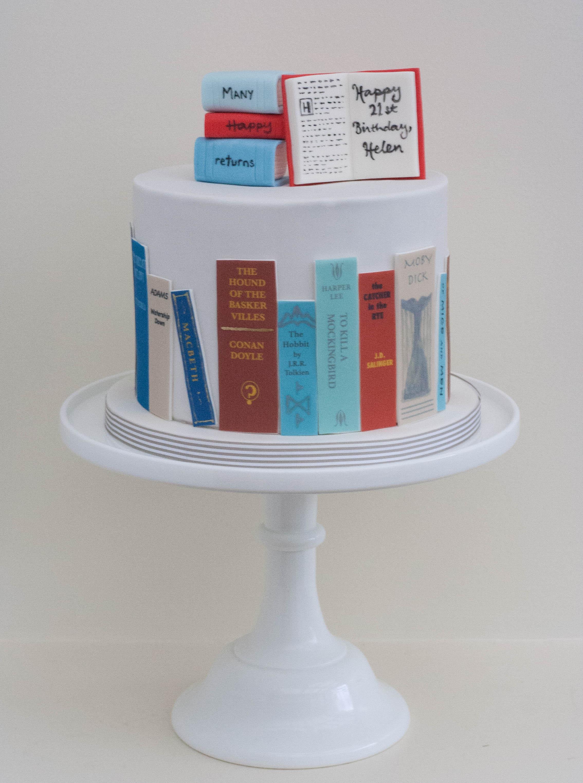 bookshelf cake vegan