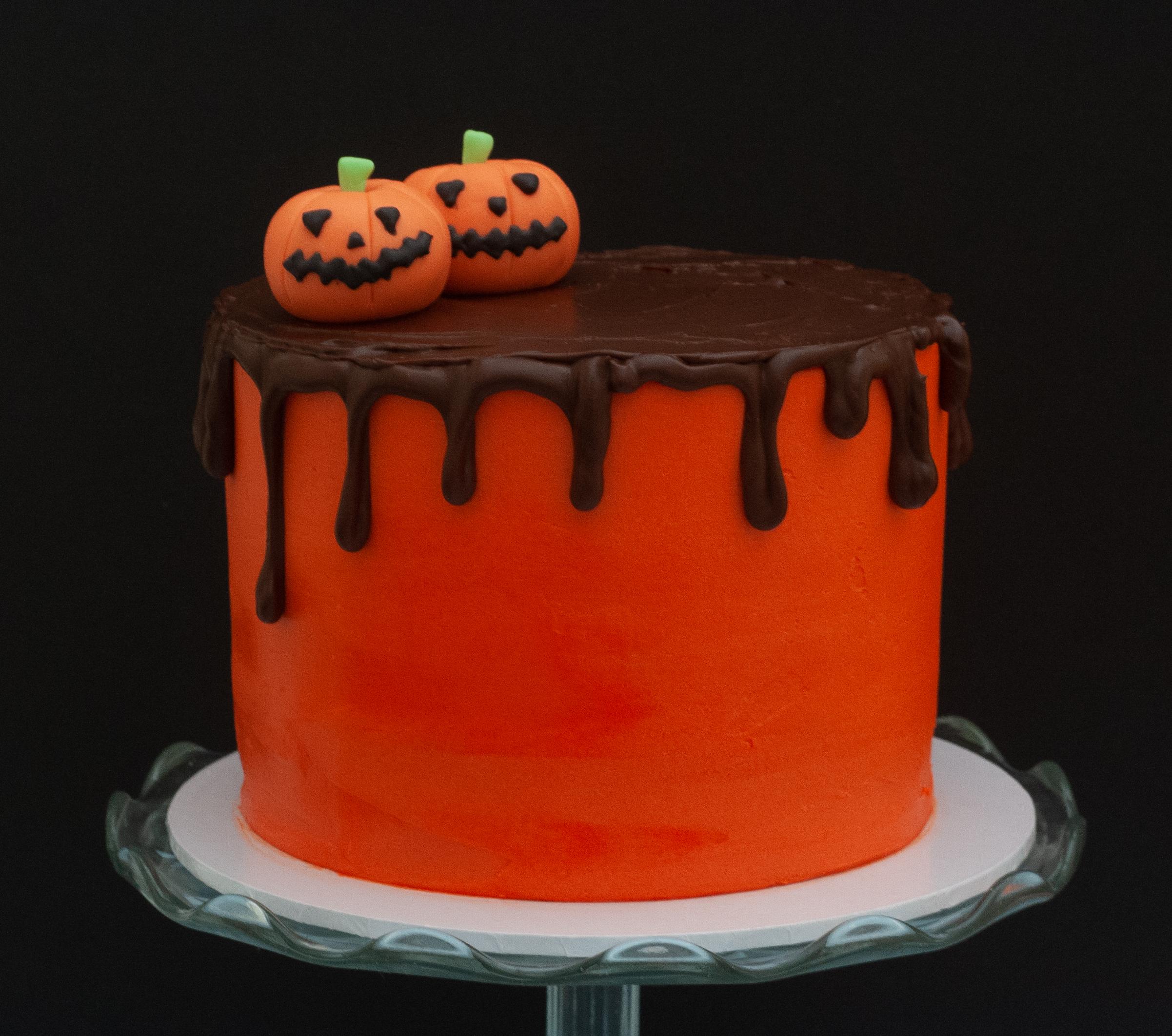choc pumpkin spice cake