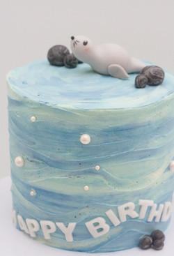 seal cake water effect