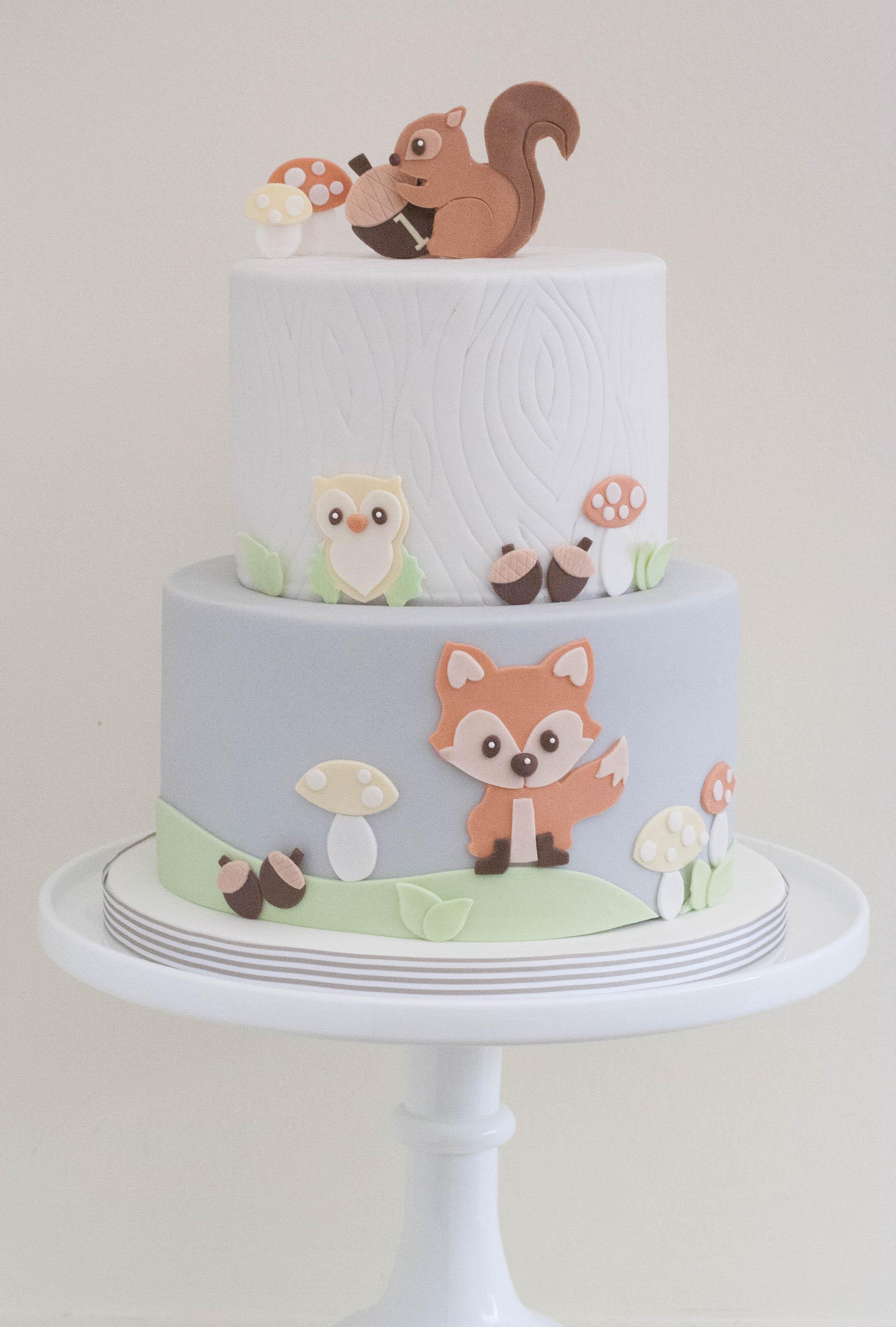 vegan woodland log cake_