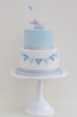 elephant vegan christening cake_