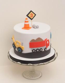 construction truck vegan cake