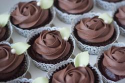 choc rose wedding cupcakes vegan gf