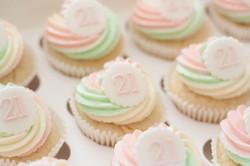 21st pastel mix vegan cupcakes