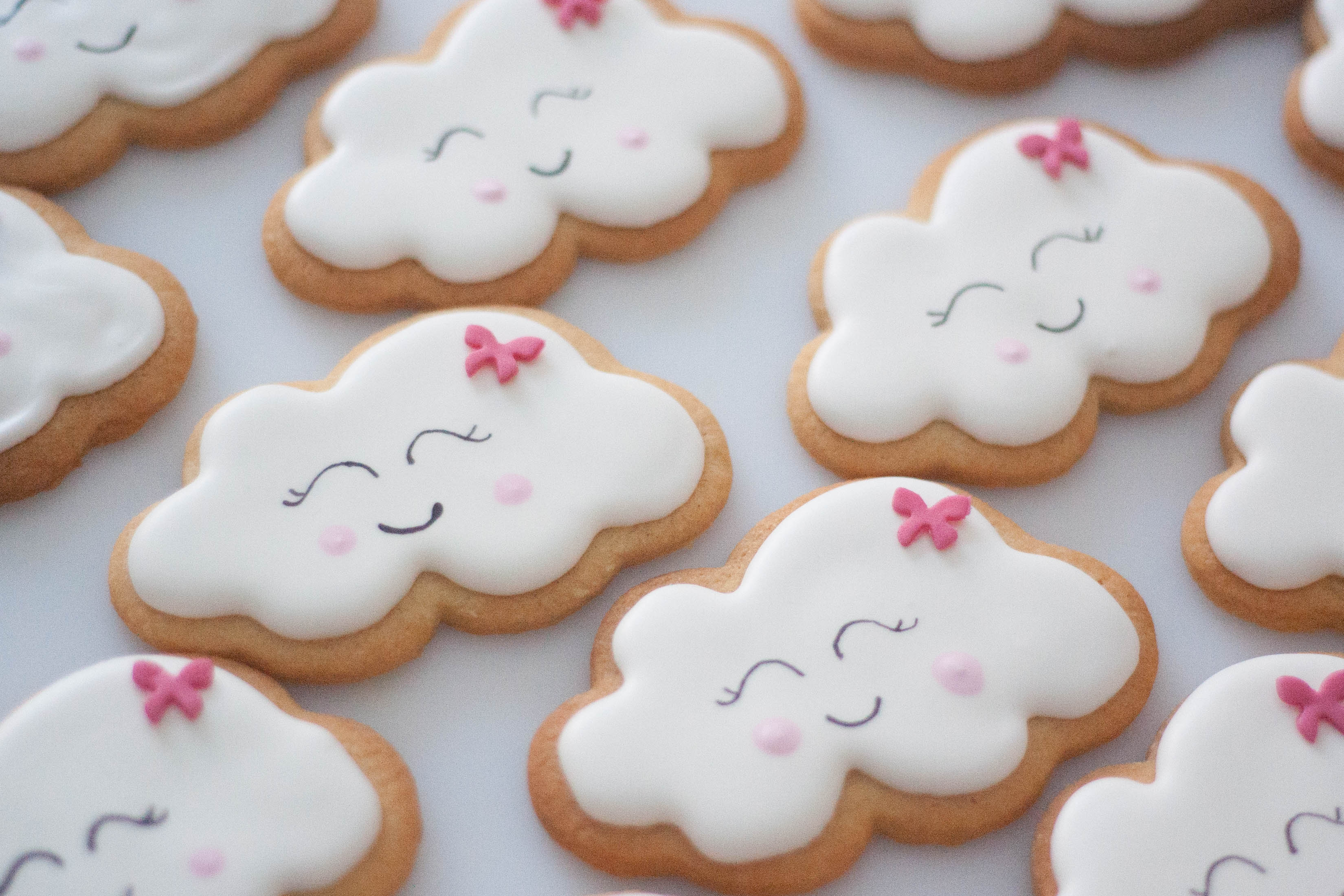 cloud cookies vegan for baby girl