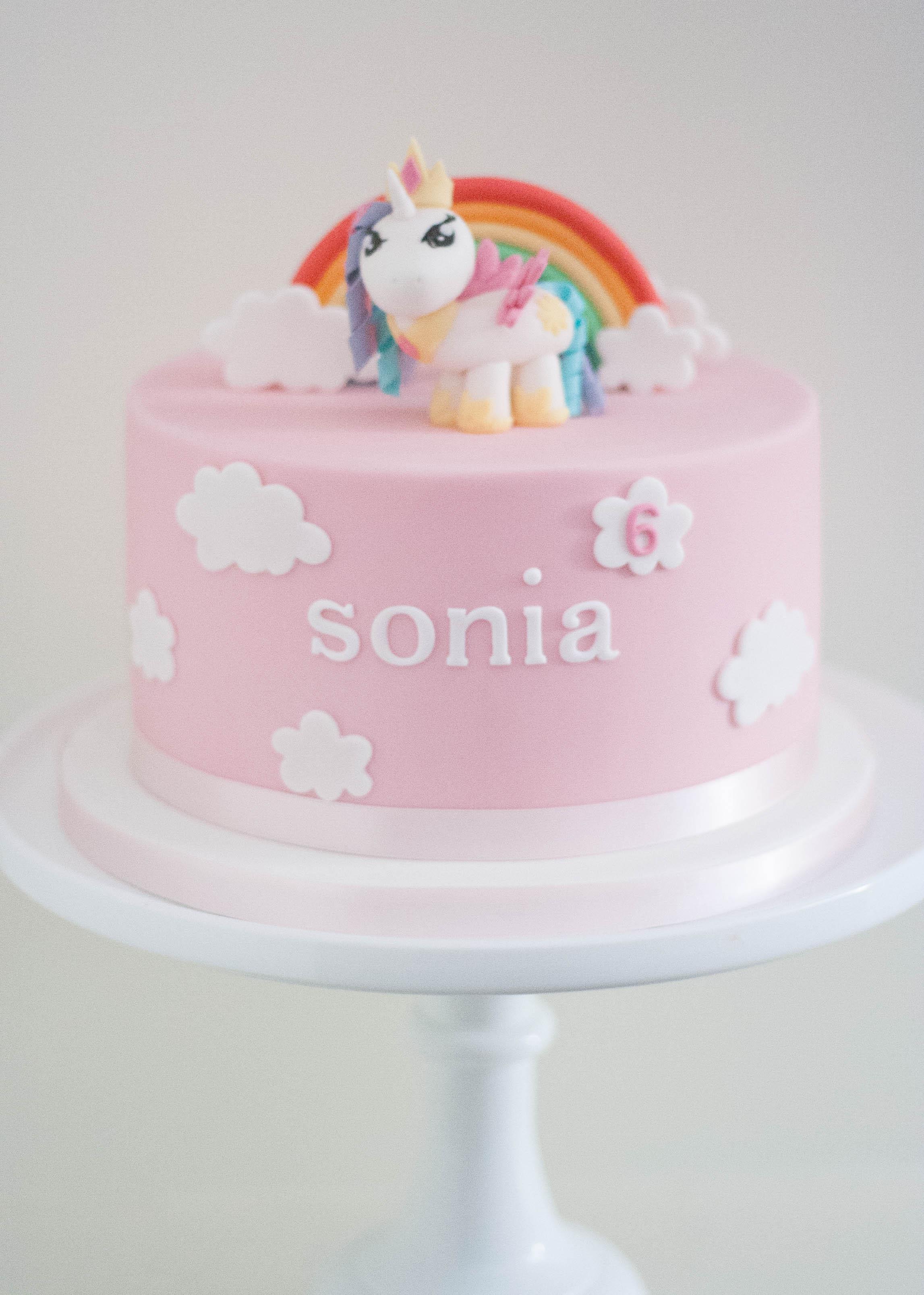 my little pony celestia vegan cake