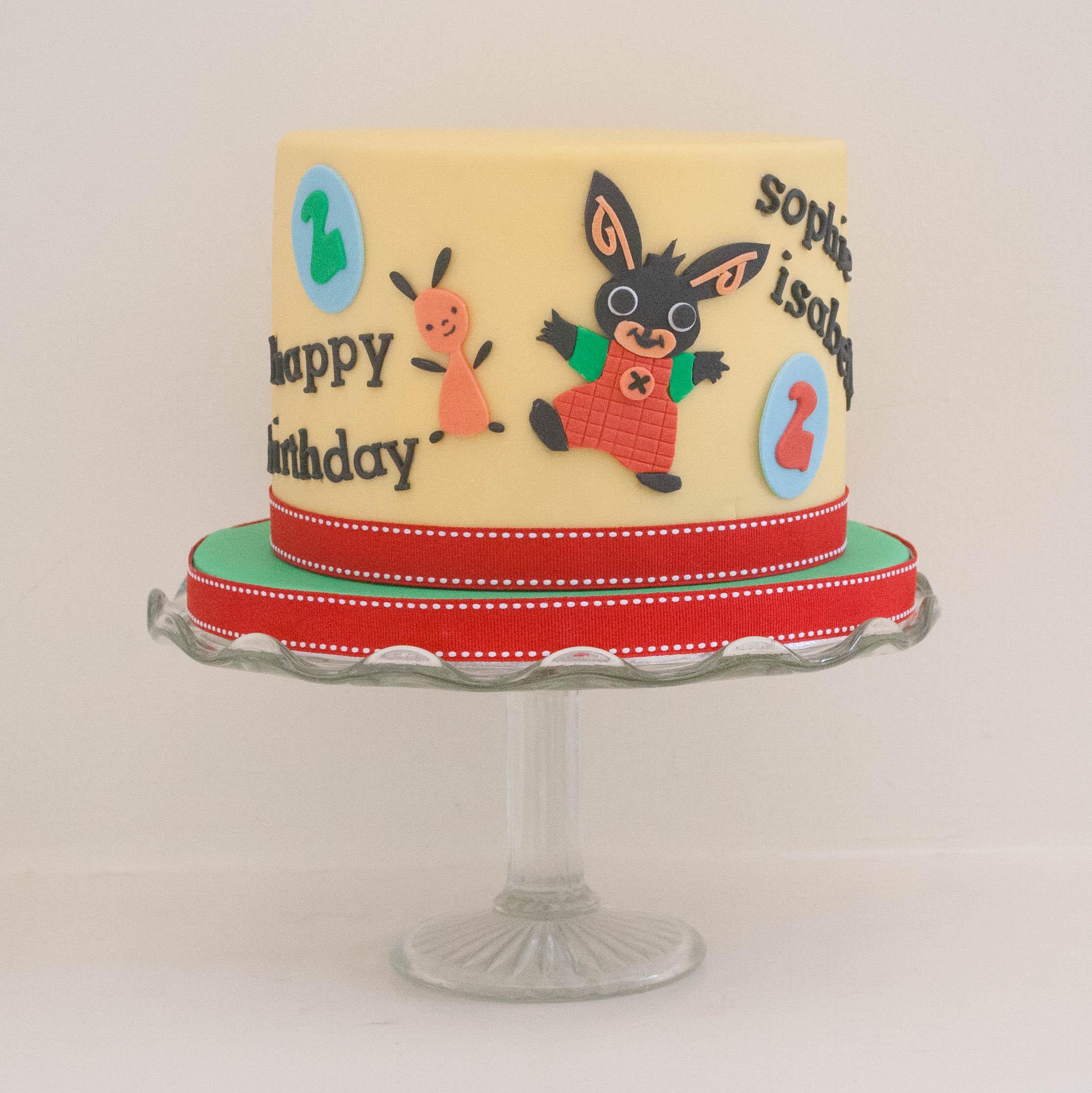 Bing bunny vegan cake
