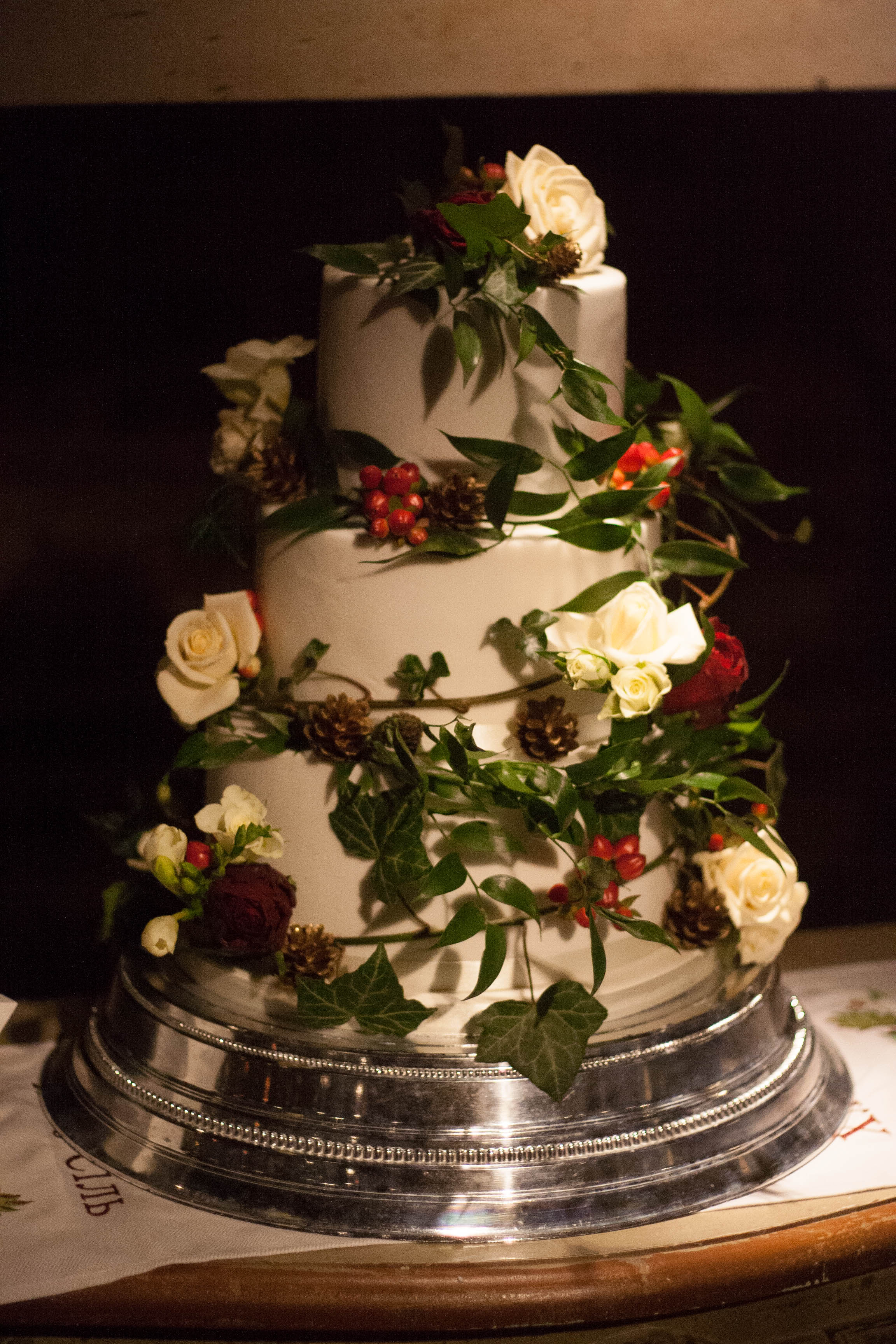 gluten free vegan wedding cake rustic-2