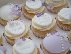 hen party cupcakes lavender