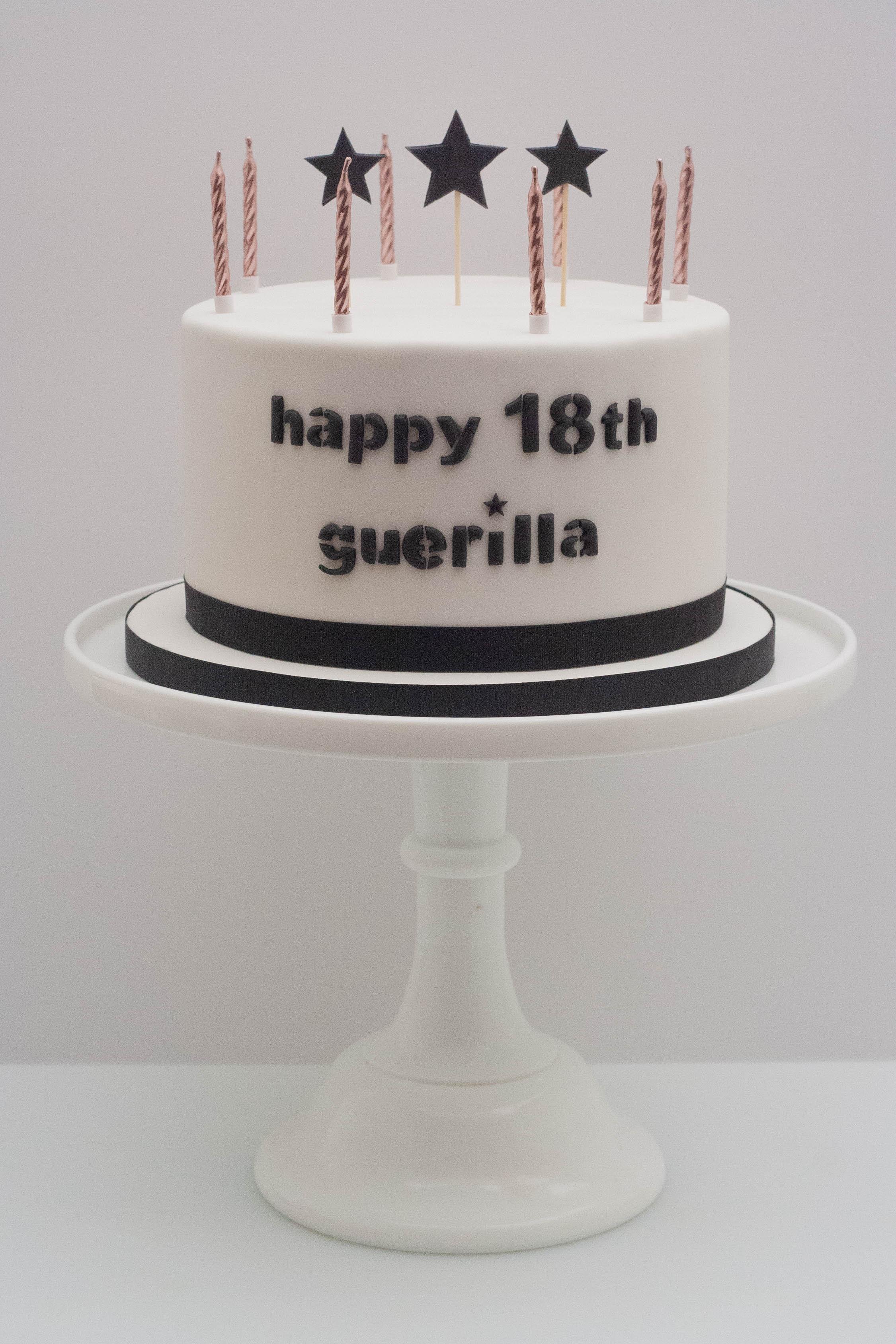 guerilla vegan cake candles