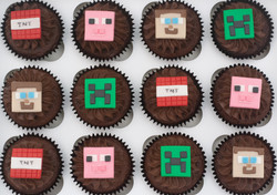 Minecraft cupcakes_