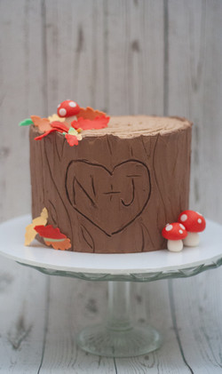 tree trunk 6 inch cake