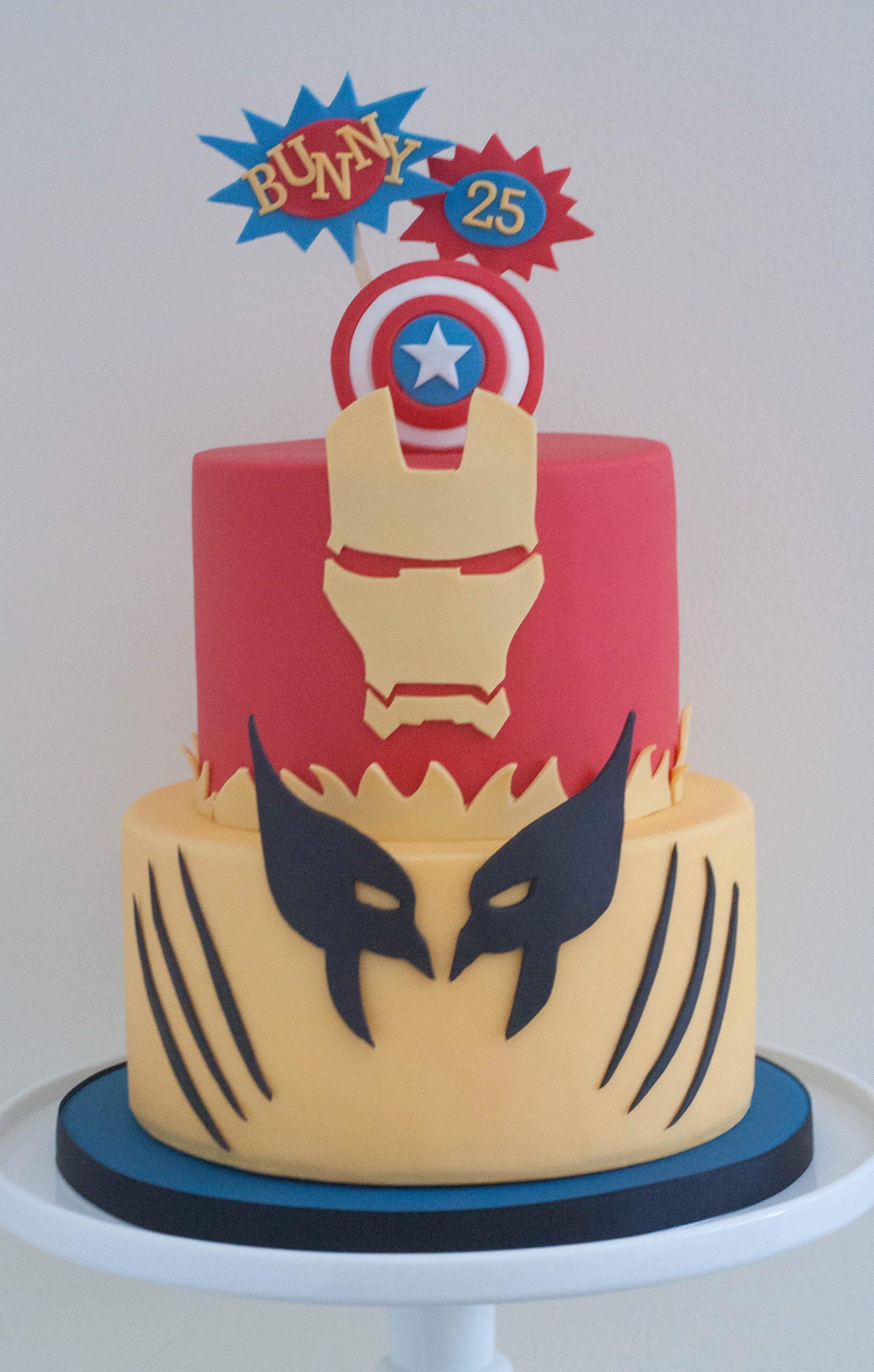 superhero vegan cake