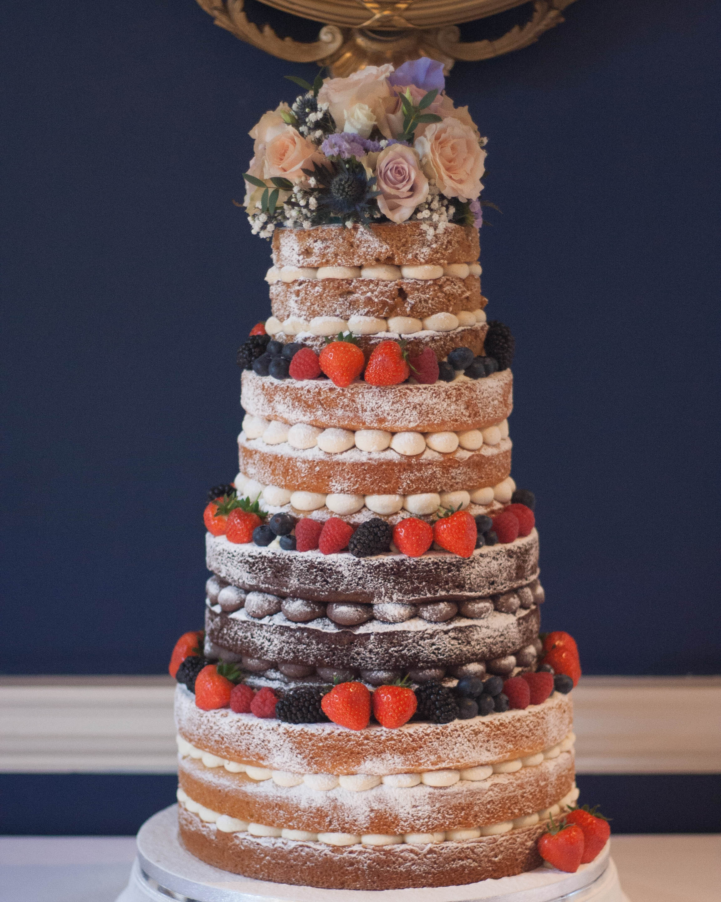 naked vegan wedding cake four tier