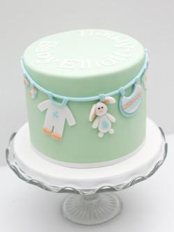 baby shower washing line cake