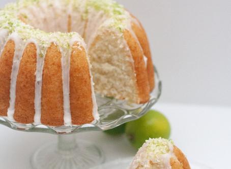 Lime and coconut vegan bundt cake