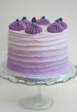 purple ombre cake vegan