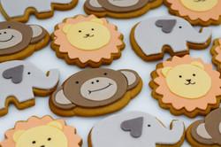 lion monkey elephant cookies