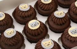 vegan cat cupcakes grey yellow
