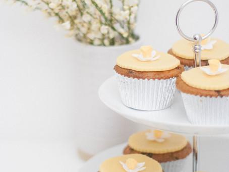 Vegan Easter simnel cupcakes