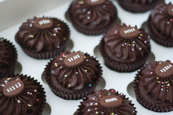 rugby ball cupcakes vegan gf