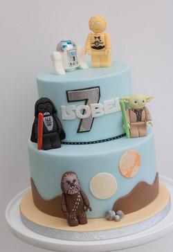 Star Wars lego vegan cake