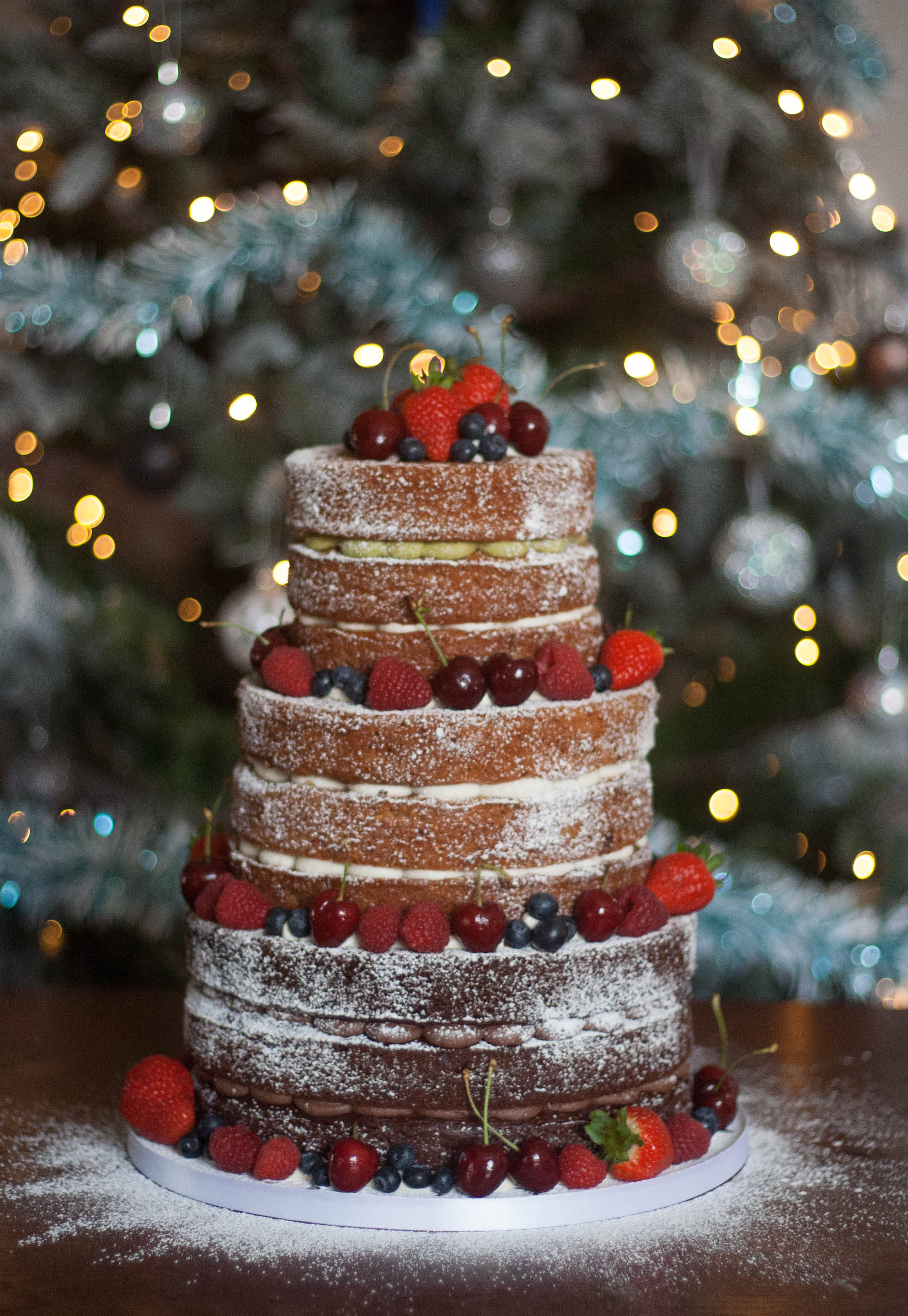 naked wedding cake vegan christmas