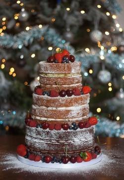 naked wedding cake vegan christmas