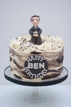 Jujitsu black white cake