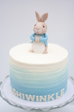 Peter Rabbit frosted ombre cake