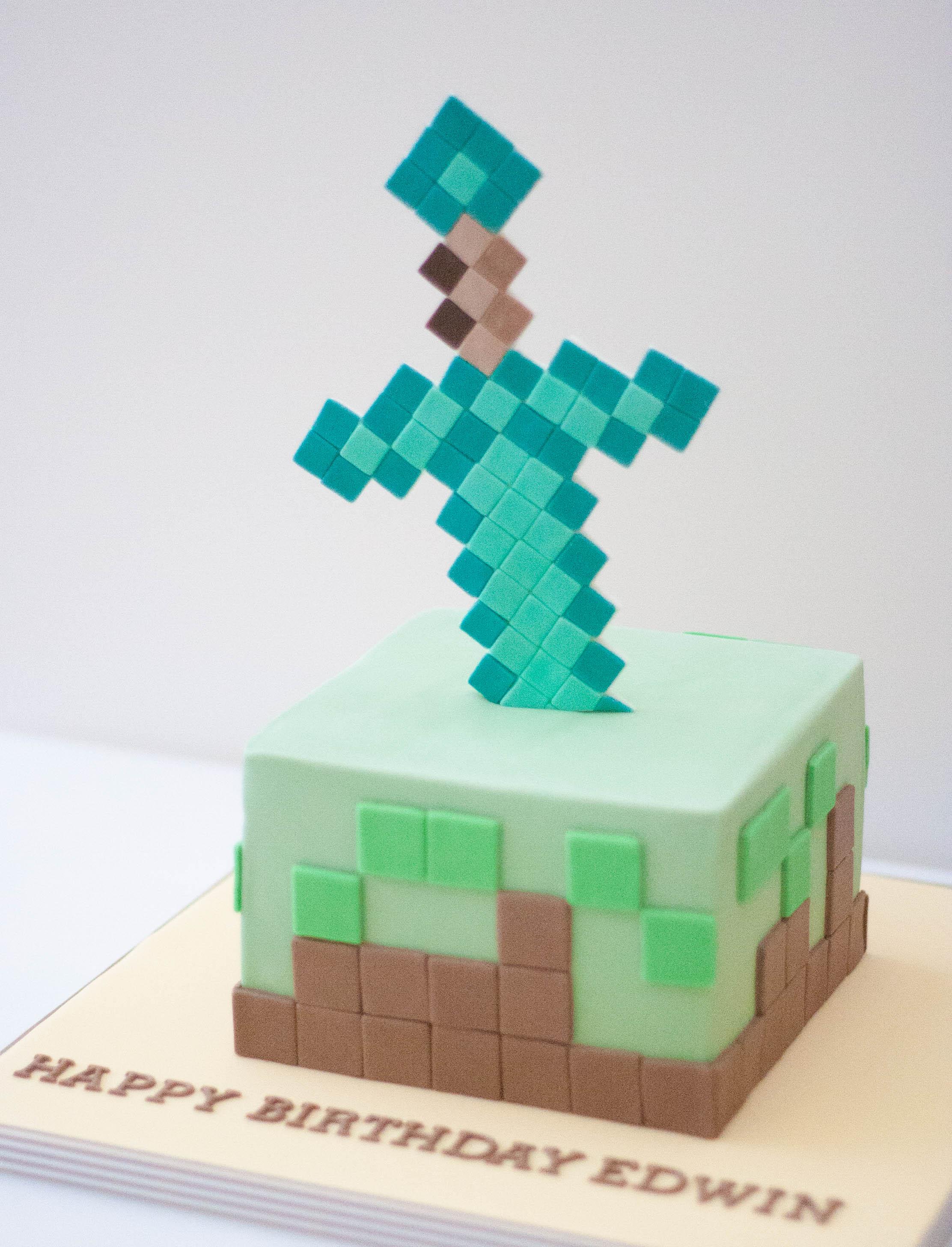 minecraft cake vegan