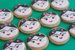 Frida Kahlo vegan cookies