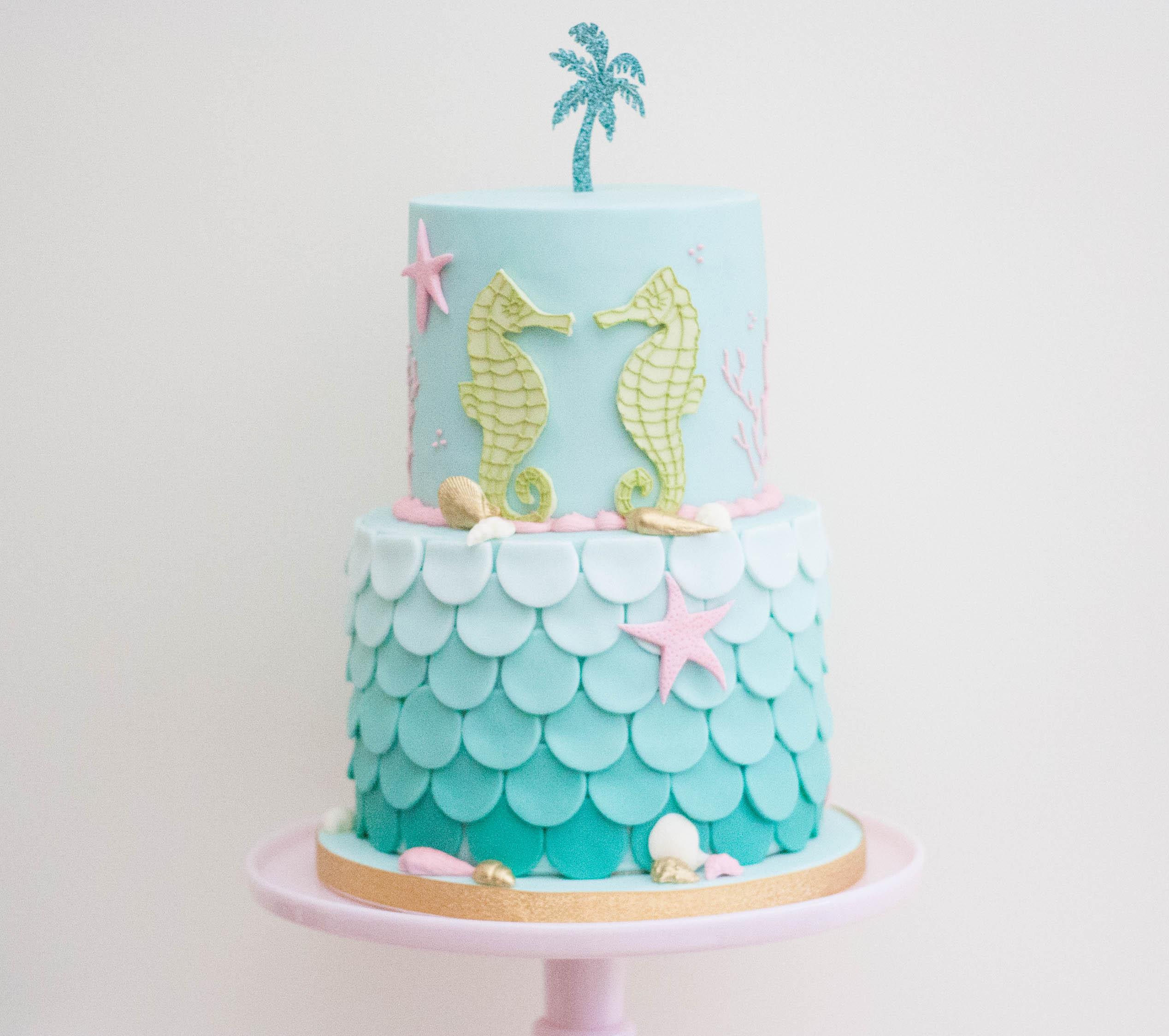 vegan seahorse cake