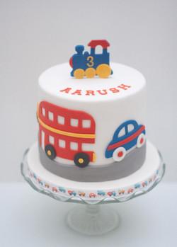 train bus car cake_