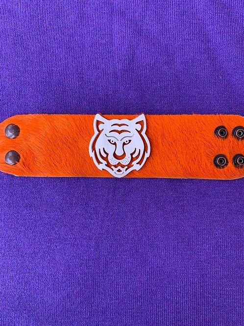 Orange Tiger Hide Cuff (Limited Edition)