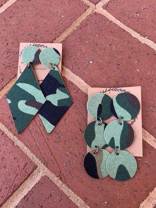 Camo Suede Earrings