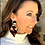 Thumbnail: Tribal Collection Cowhide Earrings (All cowhide)