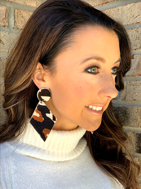 Tribal Collection Cowhide Earrings (All cowhide)