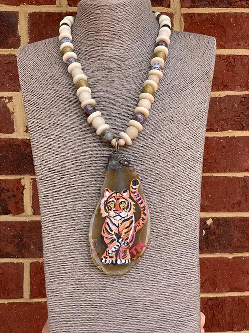 Signature Handpainted Tiger Necklace